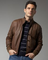 Brunello Cucinelli | Brown Reversible Leather Jacket for Men | Lyst