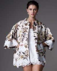 Dolce & Gabbana   White Lace-applique Matelasse Jacket   Lyst