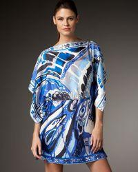 Emilio Pucci | Blue Orchid Batwing Caftan | Lyst