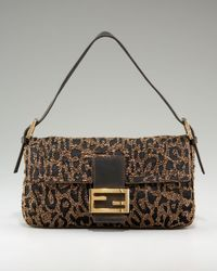 Fendi - Multicolor Embroidered Baguette - Lyst