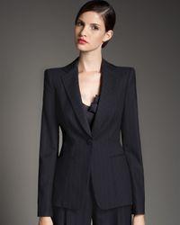 Giorgio Armani | Blue Wool Pinstripe Suit | Lyst