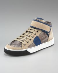 Lanvin | Gray Python Sneaker for Men | Lyst