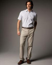 Lanvin | Green Grosgrain-trim Pants, Khaki for Men | Lyst