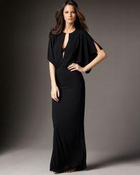Norma Kamali | Black Long Kimono Coverup | Lyst