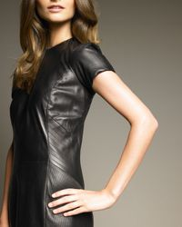 Ralph Lauren - Black Petra Leather Dress - Lyst