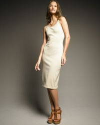 Ralph Lauren | Natural Leather-strap Dress | Lyst