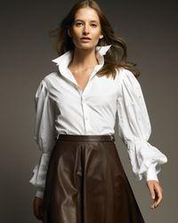 Ralph Lauren | White Desmond Poet-sleeve Shirt | Lyst