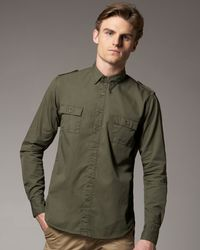 Tim Hamilton | Green Cotton Military Shirt, Olive for Men | Lyst