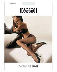 Wolford | Black Twenties Micro-fishnet Tights | Lyst