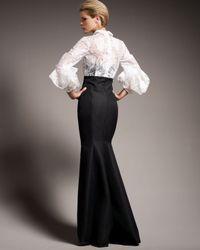 Carolina Herrera   White Origami-sleeve Shirted Gown   Lyst
