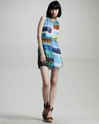 Rag & Bone - Blue Tribeca Photo-print Dress - Lyst
