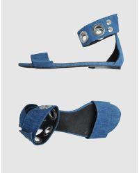 American Retro | Blue Sandals | Lyst