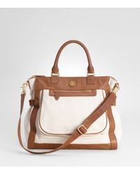 Tory Burch | White Carlin Satchel | Lyst