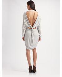 Acne | Gray Breeze Cutout Dress | Lyst