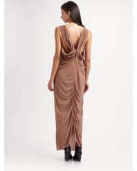 Acne | Brown Neah Maxi Dress | Lyst