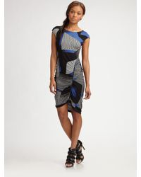 BCBGMAXAZRIA - Blue Dell Side-zipper Dress - Lyst