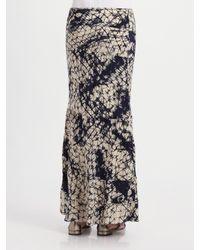 Gryphon | Blue Silk Maxi Skirt | Lyst