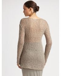 Helmut Lang - Natural Irregular Scoopneck Sweater - Lyst