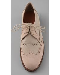 Madewell | Pink The Boardwalk Brogue Oxfords | Lyst