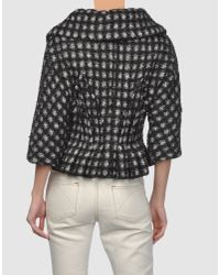 Marc Jacobs | Black Scalloped Tweed Jacket | Lyst