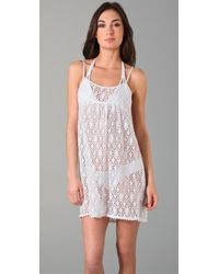 MILLY - White Ravenna Crochet Cover Up - Lyst