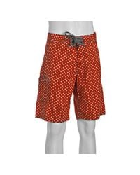 Relwen | Orange Polka Dot Cotton Board Shorts for Men | Lyst