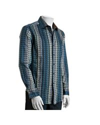 Robert Graham - Blue Geometric Pattern Sutter Shirt for Men - Lyst