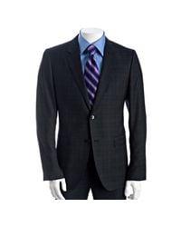 Theory | Blue Eclipse Windowpane Wool Decatur Dv Stratus 2-button Blazer for Men | Lyst