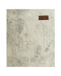 7 For All Mankind - White Tie-dye Wash Roxanne Mini Skirt - Lyst