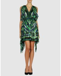 Anna Sui | Green Floral-print Silk Dress | Lyst