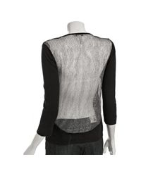 BCBGeneration | Black Striped Dreamcatcher Print Kimono | Lyst