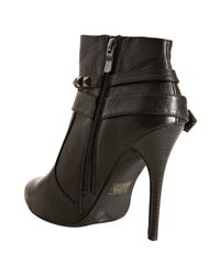 BCBGeneration | Black Leather Camina Wrapped Booties | Lyst