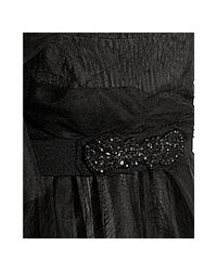 BCBGMAXAZRIA - Black Tulle Belted One-shoulder Gown - Lyst