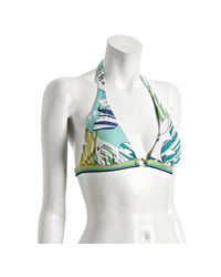 BCBGMAXAZRIA | Blue Butterfly Banded Halter Top | Lyst