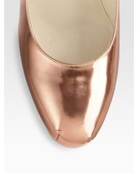 Brian Atwood | Pink Maniac Metallic Leather Platform Pumps | Lyst