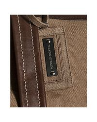 Brunello Cucinelli - Brown Tan Canvas and Leather Large Travel Tote for Men - Lyst