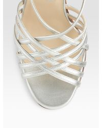 Christian Louboutin | Beverly Metallic Leather Strappy Sandals | Lyst