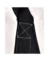 Comme des Garçons | White Ivory Canvas Black Striped Duffel Bag for Men | Lyst