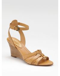Elie Tahari - Brown Ankle-strap Wedge Sandals - Lyst