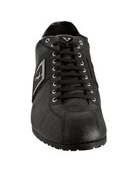 Fendi - Black Coated Zucca Rubber Trim Sneakers for Men - Lyst