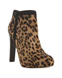 Fendi | Natural Leopard Pony Hair Platform Ankle Boots | Lyst