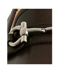 Ferragamo - Brown Hickory Leather Parigi Buckle Loafers for Men - Lyst
