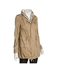 Free People - Vintage Brown Cotton Faux Fur Trimmed Parka - Lyst