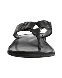Frye - Black Leather Ludlow Thong Sandals for Men - Lyst