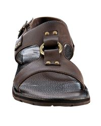 Frye - Dark Brown Leather Ludlow H Band Sandals for Men - Lyst