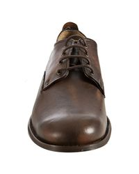 Frye | Natural Maple Distressed Leather Manny Oxfords for Men | Lyst