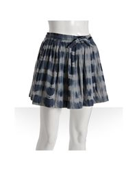 Gryphon | Navy Blue Cotton Striped Tie Dye Mini Skirt | Lyst