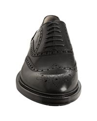 Gucci | Black Leather Wingtip Oxfords for Men | Lyst