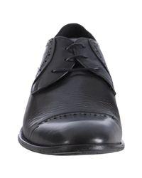 John Varvatos - Black Leather Murray Floating Cap Toe Oxfords for Men - Lyst