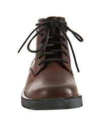 Kenneth Cole Reaction - Dark Brown Leather Off Track Boots for Men - Lyst
